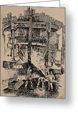 At The Blast Furnace Greeting Card