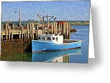 At The Dock Greeting Card