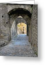 At The End Of The Passageway Greeting Card