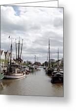 At The Old Harbor Greeting Card