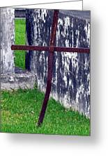 At The Old Rusty Cross Greeting Card