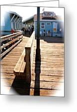 At The Piers End Greeting Card