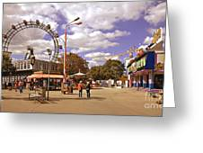 At The Prater - Vienna Greeting Card