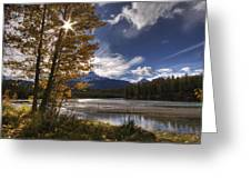 Athabasca River With Mount Fryatt Greeting Card