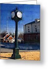 Athens Alabama City Clock Greeting Card