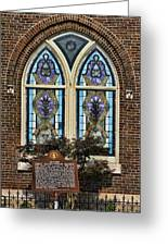 Athens Alabama First Presbyterian Church Stained Glass Window Greeting Card