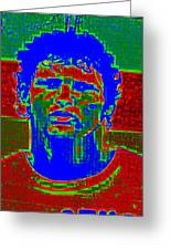 Athlete Greeting Card by Randall Weidner