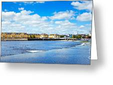 Athlone City And Shannon River Greeting Card by Gabriela Insuratelu