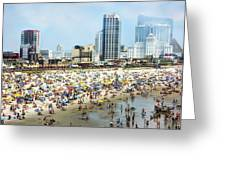 Atlantic City Beach Greeting Card
