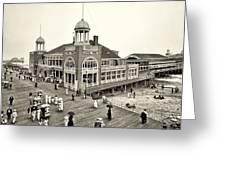 Atlantic City Steel Pier 1910 Greeting Card