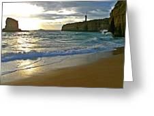 Atlantic Ocean Meets The Portugese Coast Greeting Card