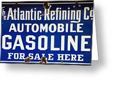 Atlantic Refining Co Sign Greeting Card