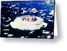 Atomic Bomb Test Cloud Greeting Card by Science Source