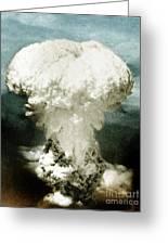 Atomic Bombing Of Nagasaki Greeting Card