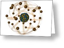 Atomic Structure, Artwork Greeting Card