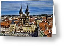 Atop The Clock Tower - Prague Greeting Card