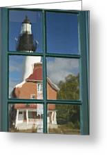 Au Sable Lighthouse Abstract 1 Greeting Card