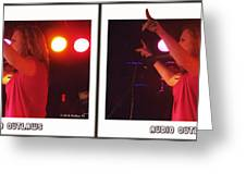 Audio Outlaws - Cross Your Eyes And Focus On The Middle Image Greeting Card