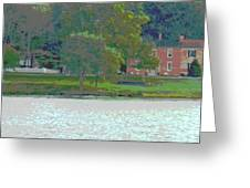 Augusta River Front Row Houses Greeting Card