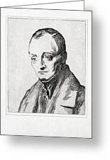 Auguste Comte, French Philosopher Greeting Card