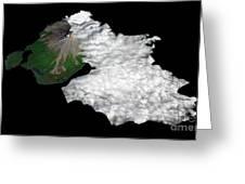 Augustine Volcano, Alaska Greeting Card