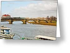 Augustus Bridge Dresden Germany Greeting Card
