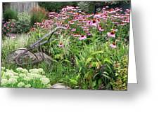 Aunt Christy's Garden Greeting Card by Jennifer Compton