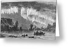 Aurora Borealis, 1868 Greeting Card
