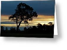 Aussie Silhouette Greeting Card