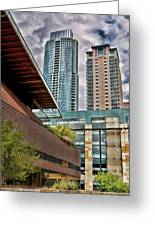 Austin Condo Towers - Hdr Greeting Card