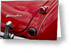 Austin-healey Tail Light And Emblem Greeting Card