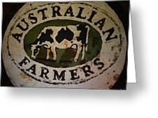 Australian Farmers Greeting Card