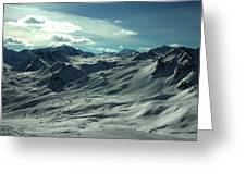 Austria Snow Mountain Greeting Card