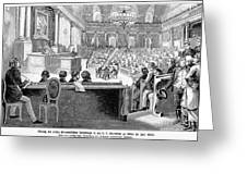 Austrian Assembly, 1848 Greeting Card