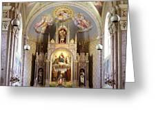 Austrian Church Interior Greeting Card