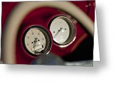 Auto Meter Dashboard Guages Greeting Card