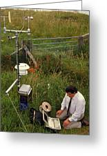 Automated Weather Monitoring Station Greeting Card