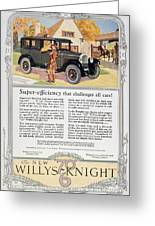 Automobile Ad, 1926 Greeting Card