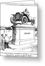 Automobile Cartoon, 1914 Greeting Card