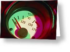 Automobile Oil Temperature Gauge; Low Temperature Greeting Card