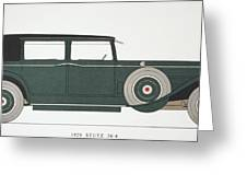 Automobile: Stutz, 1929 Greeting Card