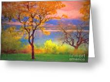 Autum Morning Greeting Card
