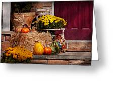Autumn - Gourd - Autumn Preparations Greeting Card by Mike Savad