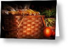 Autumn - Gourd - Fresh Corn Greeting Card