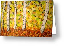 Autumn Aspens Greeting Card