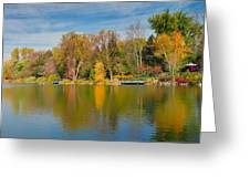 Autumn At Mill Pond Park Greeting Card by Luba Citrin