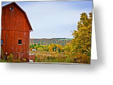 Autumn At The Farm Greeting Card