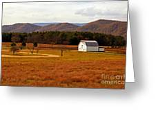 Autumn Barn In Green Bank Wv Greeting Card