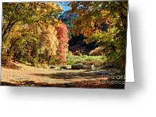 Autumn Campground In Blacksmith Fork Canyon - Utah Greeting Card
