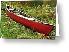 Autumn Canoe Greeting Card by Thomas R Fletcher